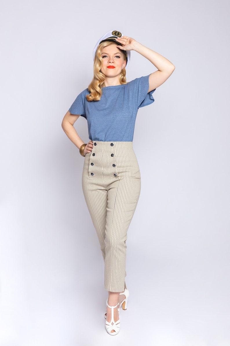 1950s Pants & Jeans- High Waist, Wide Leg, Capri, Pedal Pushers Capri pants