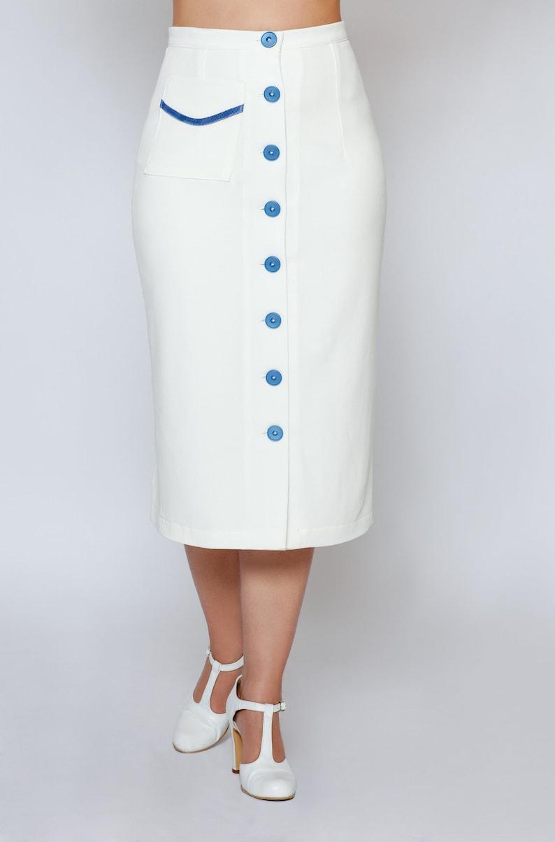 1930s Style Skirts : Midi Skirts, Tea Length, Pleated Skirt