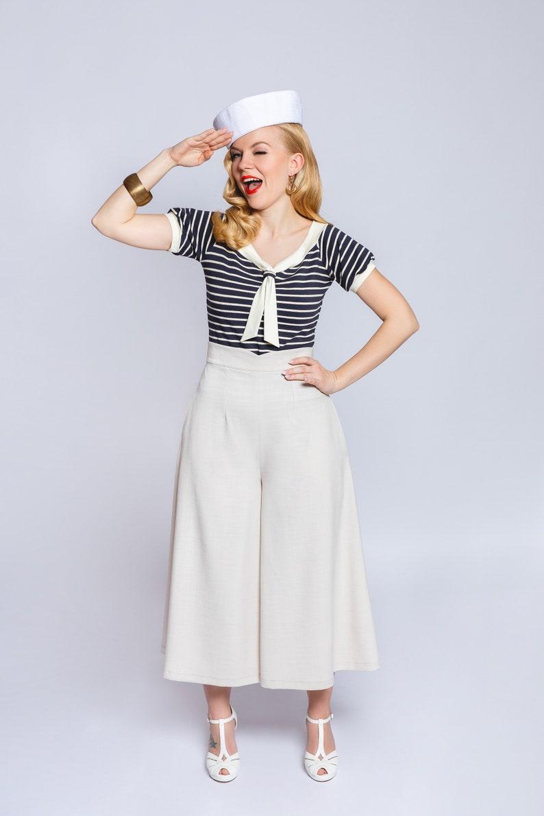 1930s Wide Leg Pants and Beach Pajamas Pants skirt