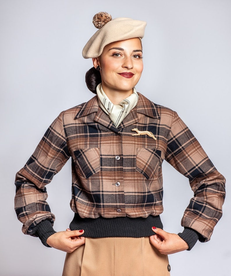 1940s Style Coats and Jackets for Sale Jacket Jumper gauchoshirt