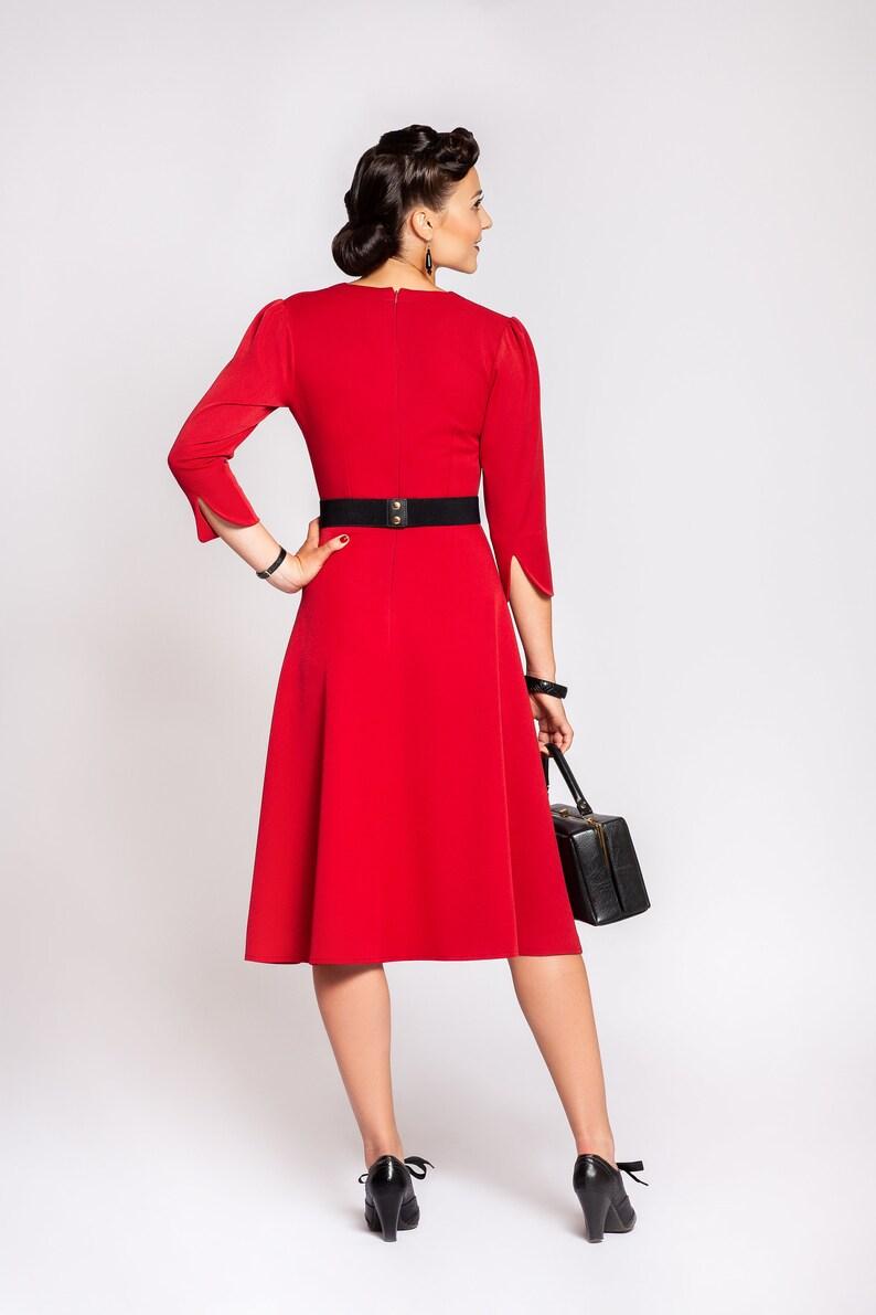 56e5f4a94eeea Dress Violet red Swingdress in 1940 's vintage | Etsy