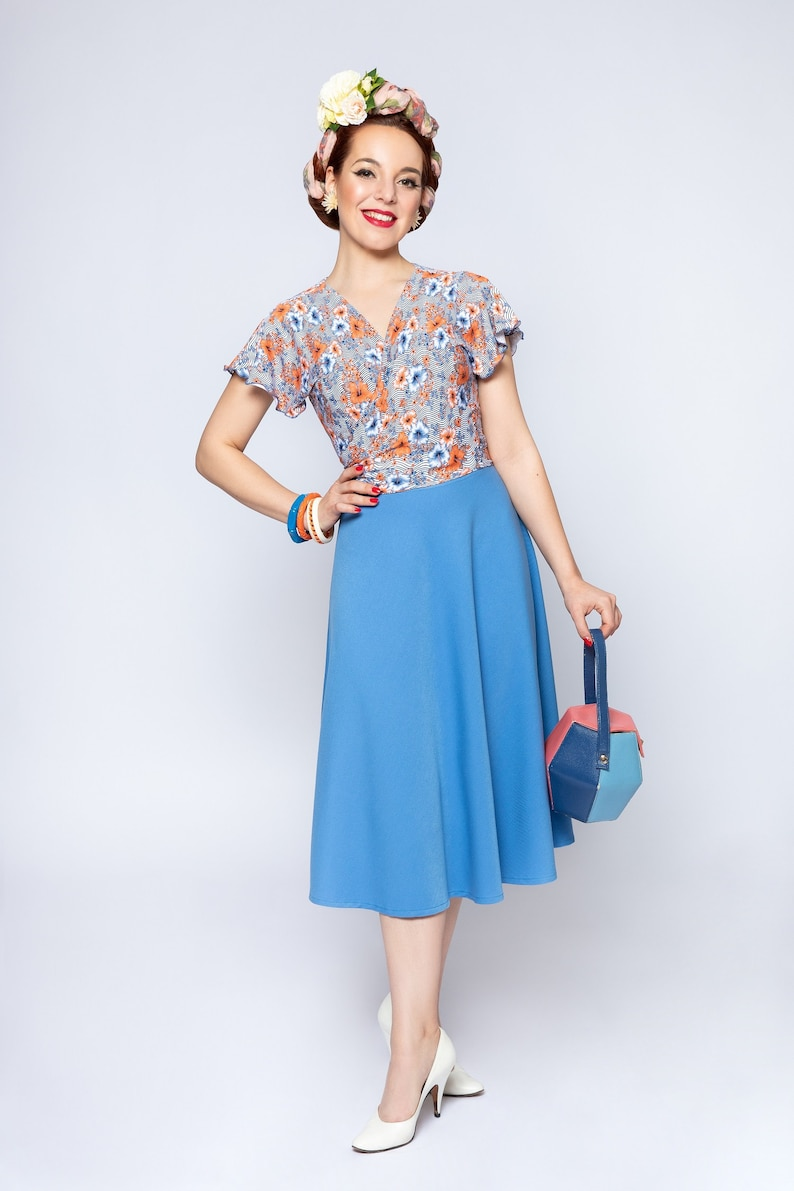 1940s Women's Outfit Inspiration FrozenHibiscus  AT vintagedancer.com