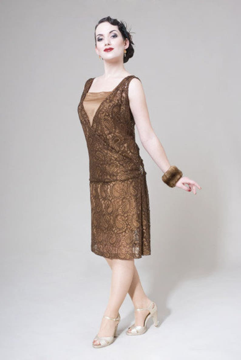 1920s Style Dresses, 20s Dresses Sarah Dress $319.99 AT vintagedancer.com