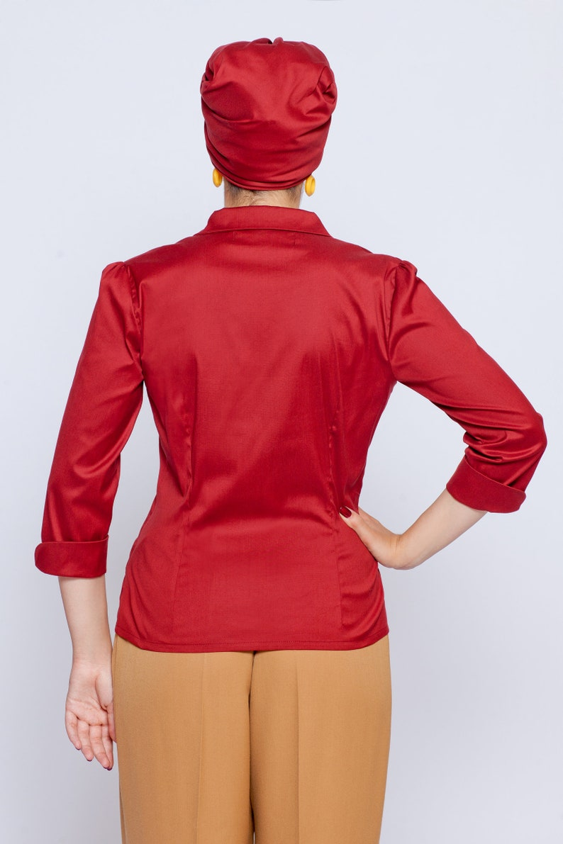 Blouse Ruby in vintage style