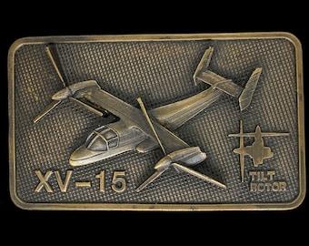 read description Glam Garb Vintage 70s Boeing 74767 BTS Brass Buckle Belt Square Heavy Sturdy Golden Metal Pilot Flying Airplanes Retro