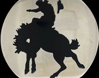 Jewelry Bronc Rider Cowboy Pewter Lapel Pin Brooch A141