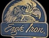 Harley Davidson Motorcycle Eagle Iron MC Biker Hippie Chopper Rider Gift Panhead Mens Buckles 1980s Vintage Belt Buckle
