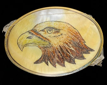 Fashion Mens Bald Eagle American Flag U.S.A Liberty Spirit Metal Belt Buckle