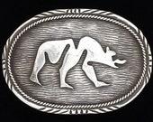 Handmade Native American Ed Kee Navajo Indian Sterling Silver 925 Sacred Zuni Bear Claw Paw Western Southwest 1970s Vintage Belt Buckle 86g