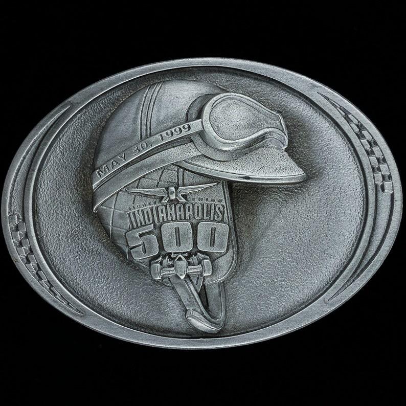 New 83rd Indianapolis 500 Helmet Indy Motor Speedway Open Wheel Car Racing Fan Gift Pit Badge 1999 NOS Vintage Belt Buckle