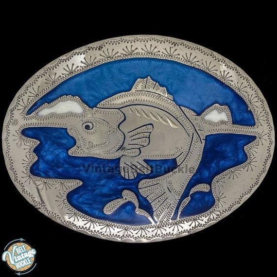 NEW FISH ANIMAL WATER STREAM RIVER WILDLIFE FISHING BELT BUCKLE !!
