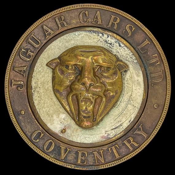 Original Jaguar Coventry Antique Emblem Badge Hood