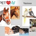 Custom pet portrait watercolour painting