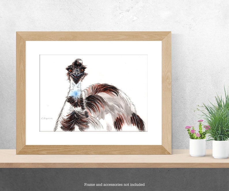 Emu watercolour painting original image 0