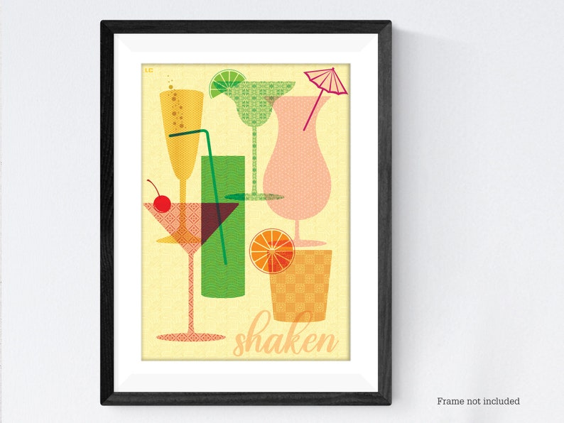 Cocktail poster print image 0