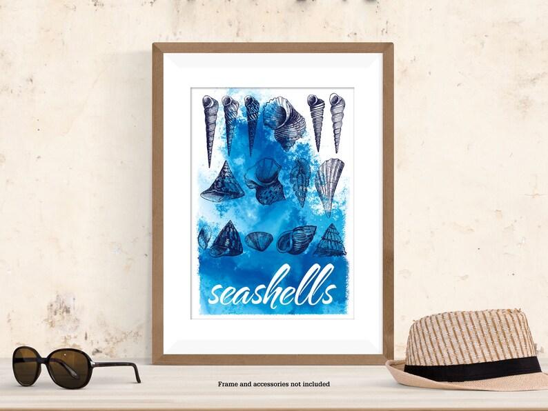 Seashells type print image 0