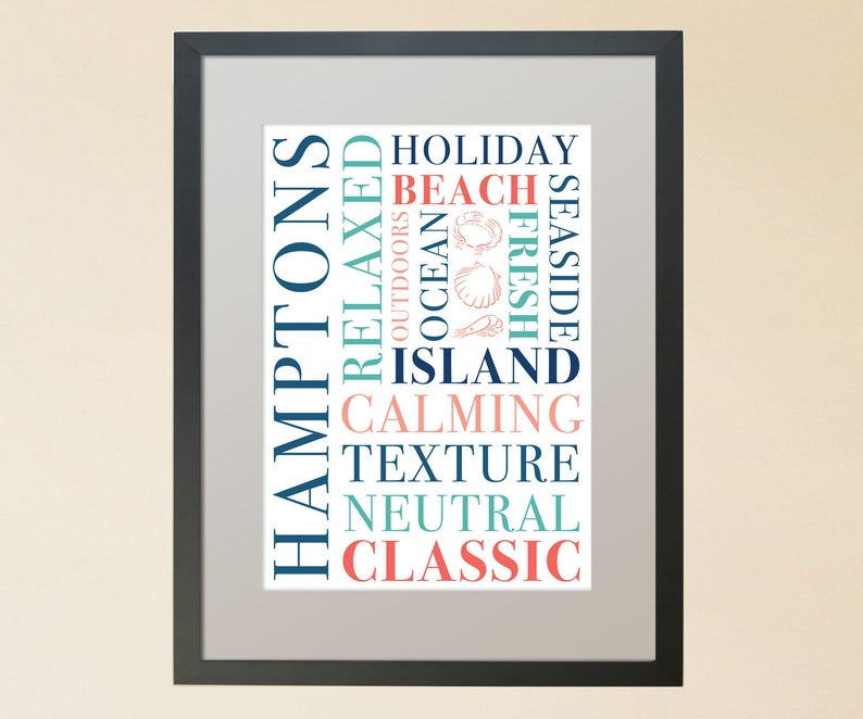 Hamptons type poster image 0
