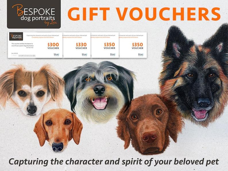 Custom dog illustration gift voucher image 0