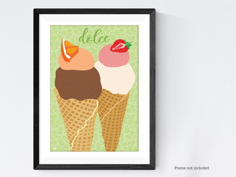 Ice cream gelato poster print image 0