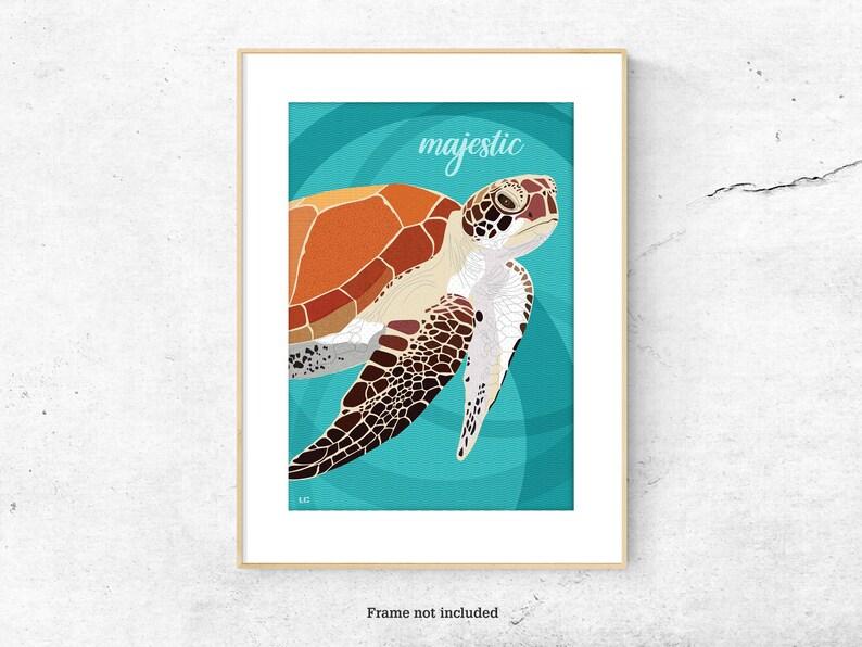 Sea Turtle poster print image 0