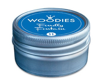 Woodies Stamp Pads   Fondly Fontain   Blue