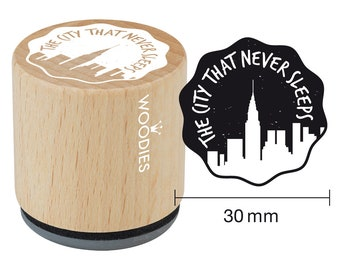 Woodies motif Stamp the city that never sleeps