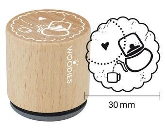 Woodies motif Stamp Teapot Wood stamp