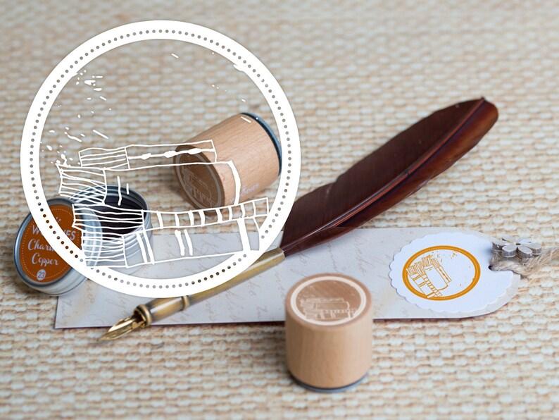 Woodies motif Stamp Bookplates image 0