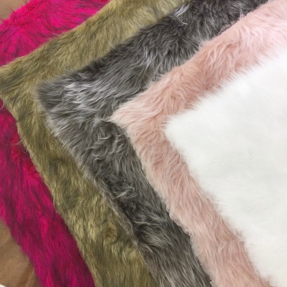 16 Color Faux Fur Fabric Craft FurMix color Fabric by the  de4fc24554126