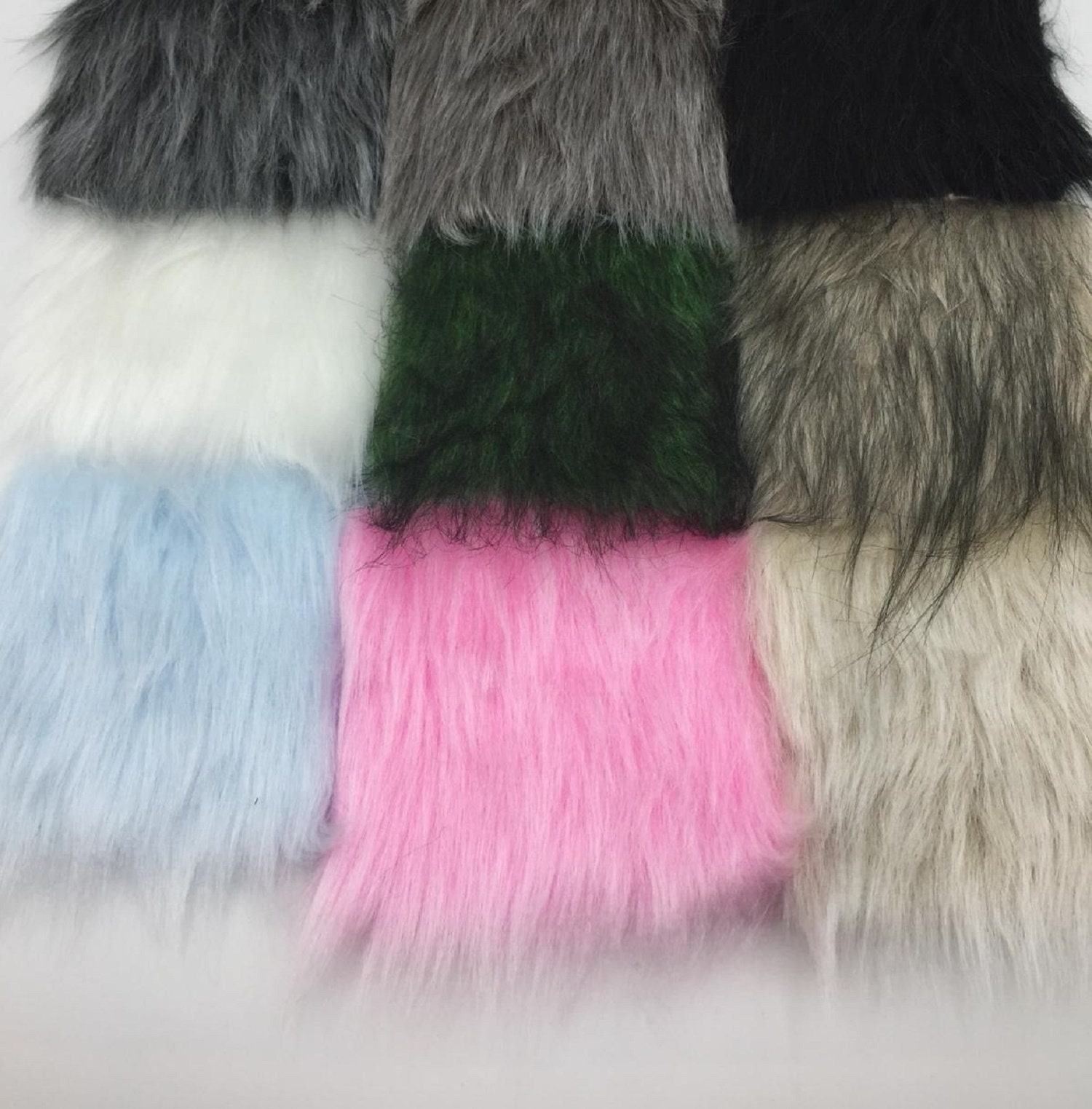 Faux Fur Fabric Craft FurMix color Fabric by the yard  e664c304d8bbf
