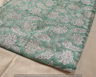 Cotton Dressmaking Fabrics Hand block Print 3 Yard Running Loose Craft Decor