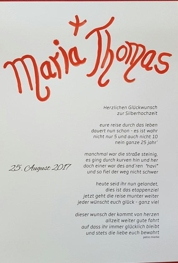 Imprimer Le Poème Anniversaire Noces Dargent