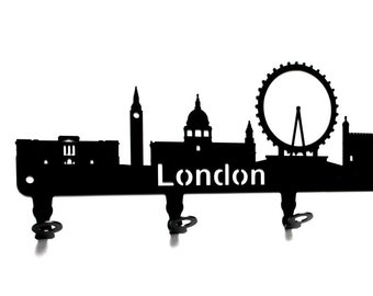Wandhaken Garderobenhaken London Wandgarderobe Kleiderhaken Hakenleiste Haken