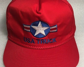 56a80d5df7ed7 Vintage USA Truck Snapback Hat Trucker Style Rope Detail Embroidered NWOT