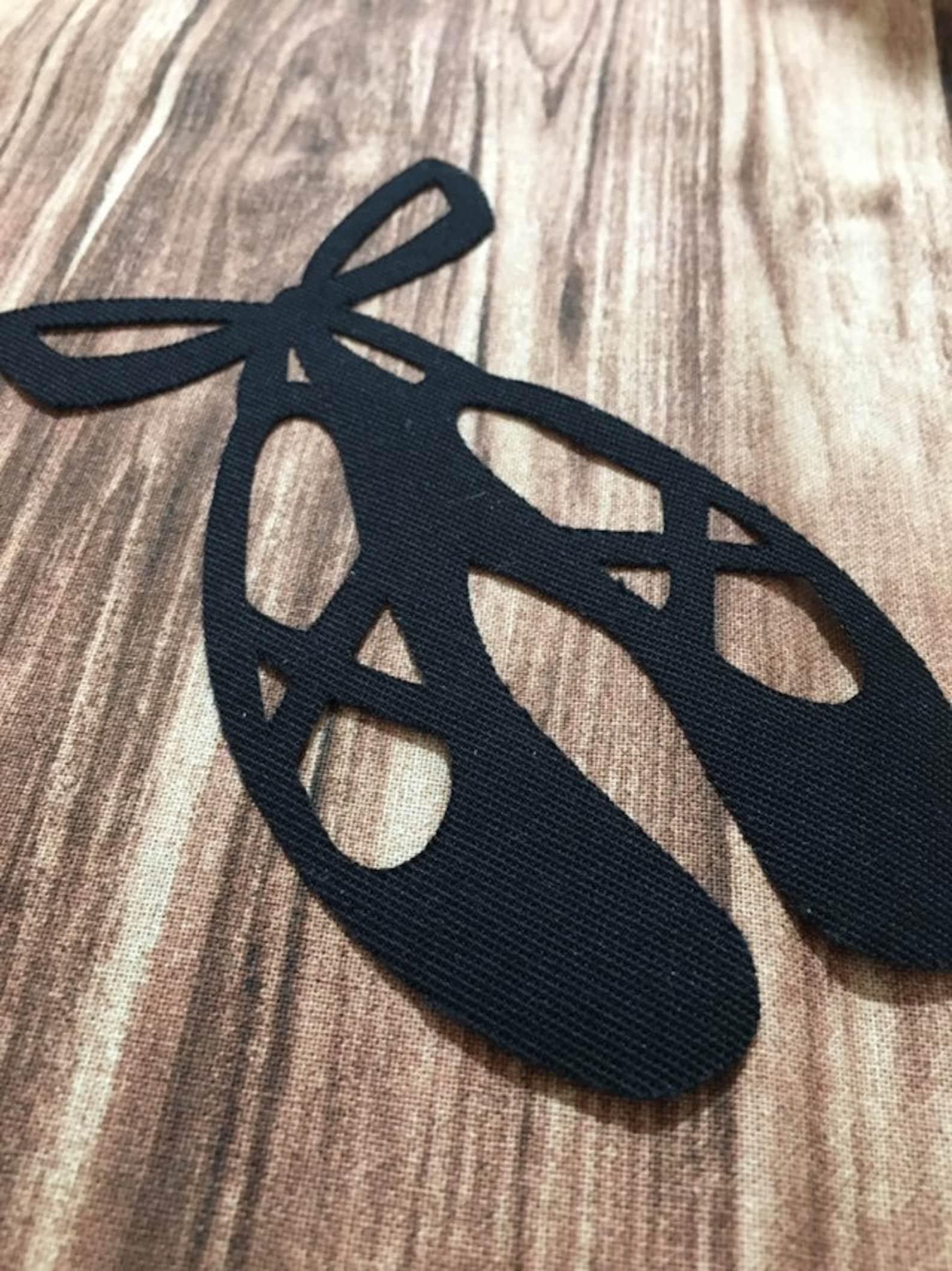 ballet shoes patch / kid shoes patch / girl shoes patch / appliqué