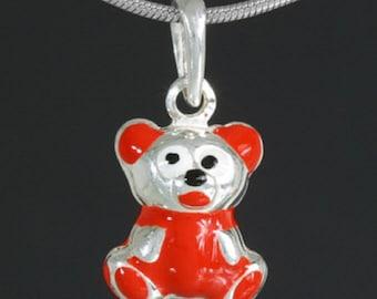Pave Diamond Pendant #Animal Pendant#Enamel Pendant# Pendant#92.5 Silver Pendant# Bear Shape Pendant #Antique Jewelry#Pave Diamond Pendant