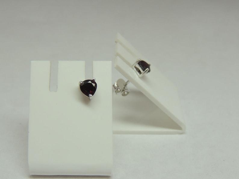 Edles 2.65 carat garnet jewelry set pendant stud earrings 925 silver earring collie
