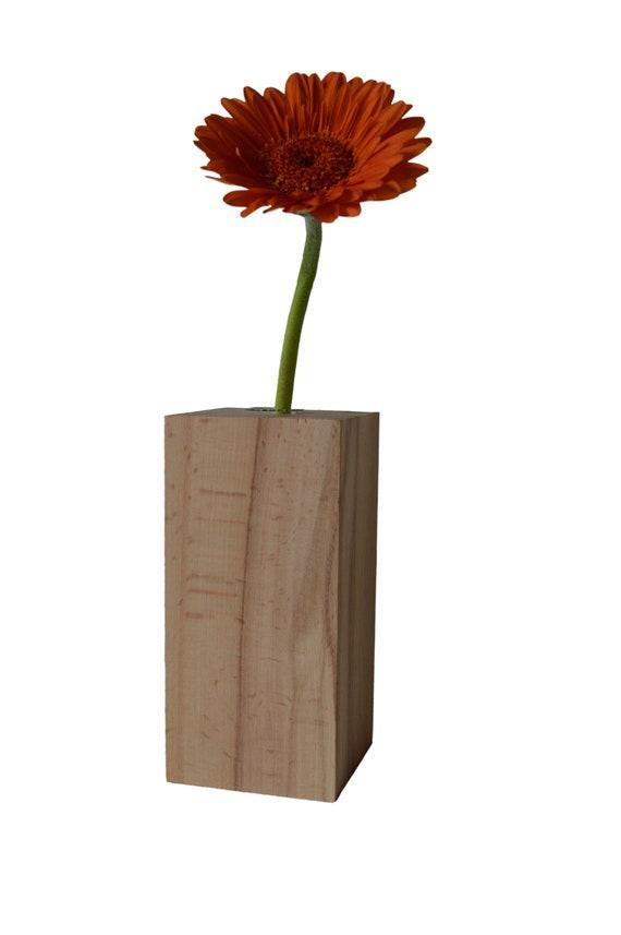 """Vase en bois - naturel - """"Woody Q1"""" - NOUVEAU"""