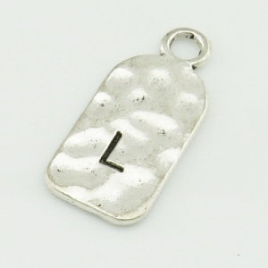 Character pendant D 12mmx 27 mm Antique Silver