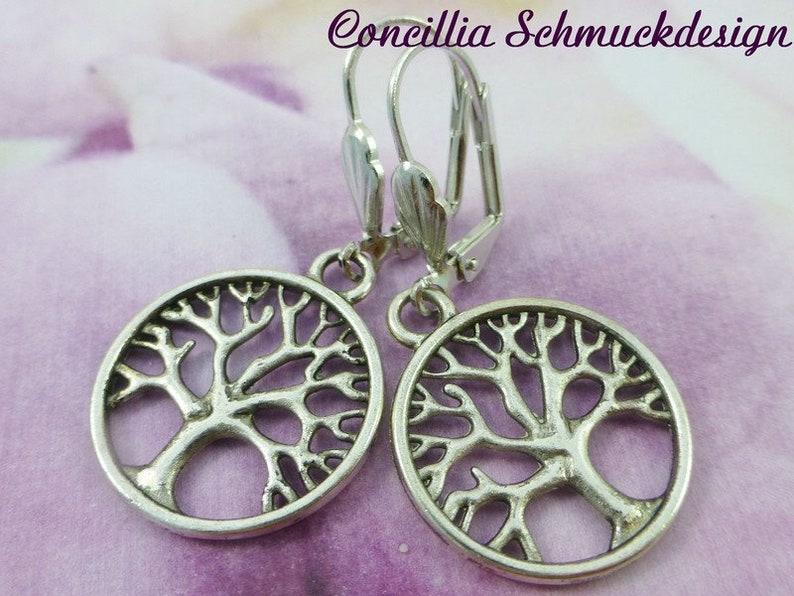 Earrings Tree of Life silvered