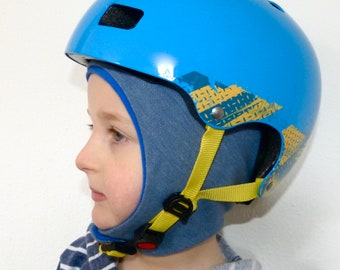 Underwear cap, underhelmet cap, jersey cap close to the head children for cycling/skiing/snowboarding/skating/riding/bicycle helmet/toddler jeans blue