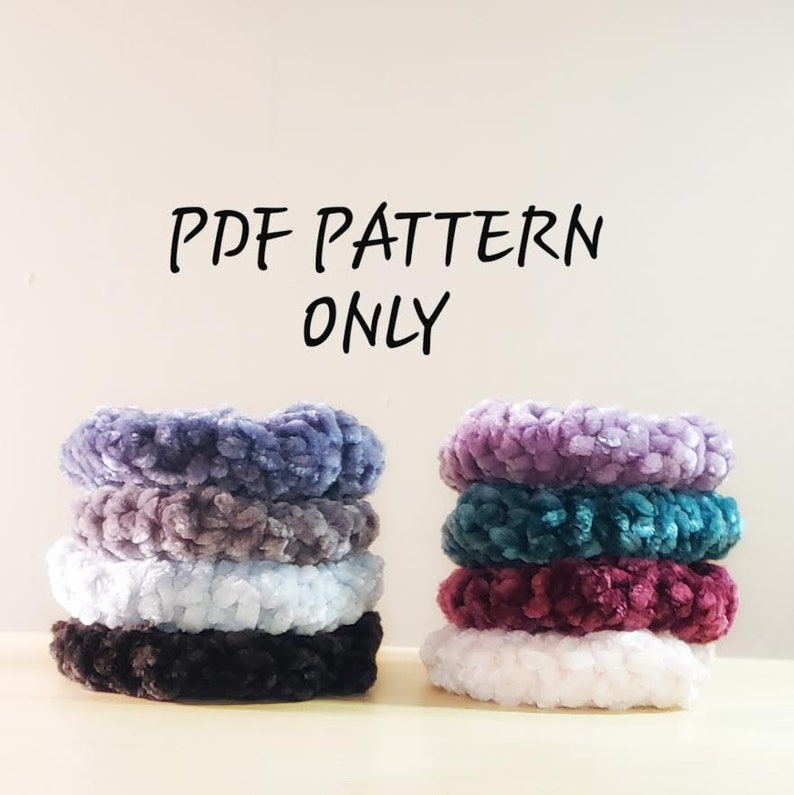 PDF PATTERN  New and Improved Crochet Velvet Scrunchies image 0
