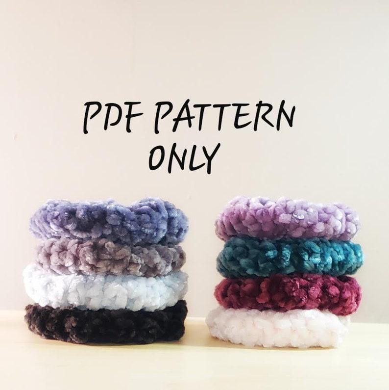 PDF PATTERN  New and Improved Crochet Velvet Scrunchies image 0
