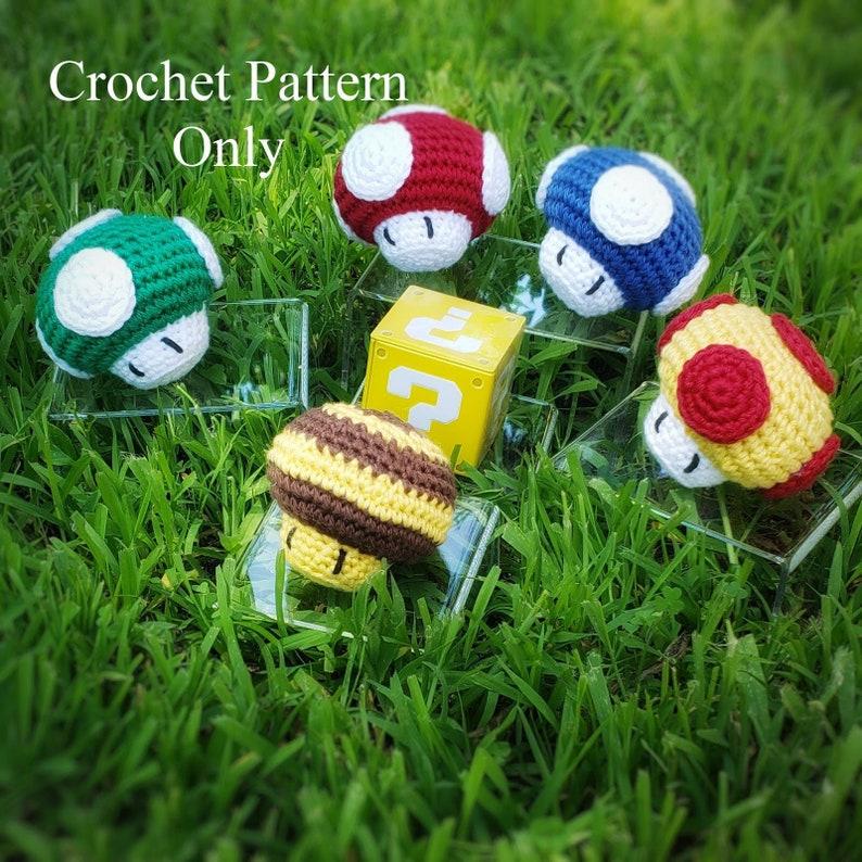 Super Mario Power-Up Mushroom Crochet Pattern image 0