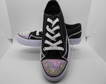 98f9a8ffeb4a Bedazzled Sneaker - Women s Bling Sneaker - Custom Sneaker - Women s Bling  Shoe - Women s Shoe - Bling Sneaker - Bling Shoe- Rhinestone Shoe