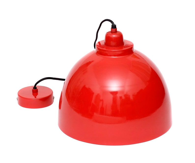 Design hanging lamp pendant light 45 cm pendant light red silver metal hanging lamp lamp light ceiling light ceiling light pendant light pendant lamp new