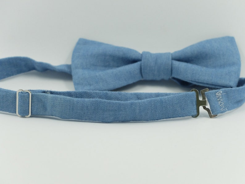 Bow tie for men indigo blue