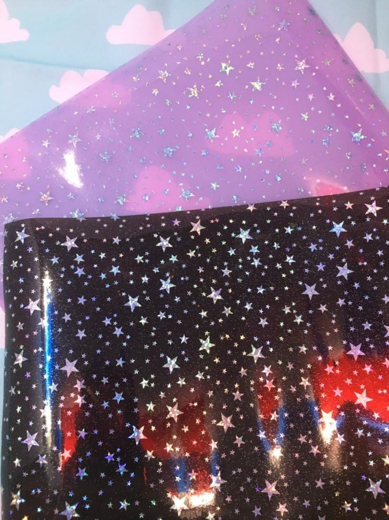 Transparent Starry PVC Vinyl Fabric Sheet 1pc