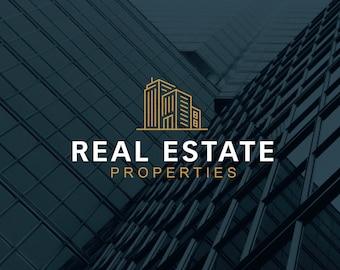 Premade logo design. Instant logo download. Real estate properties logo. Commercial real estate logo. Architect logo design. Modern logo