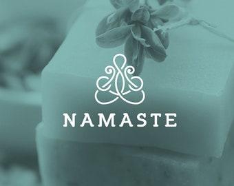 Yoga premade logo design. Beauty and spa logo design. Health & Fitness logo design. Healthy lifestyle logo. Yoga logo instant download.